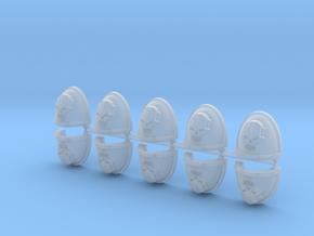 Steel Face Warriors Mk7/8 shoulder pads #2 in Smooth Fine Detail Plastic