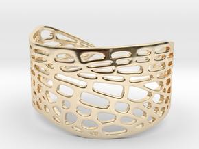 Dragonfly Wing Bracelet - Medium in 14k Gold Plated Brass