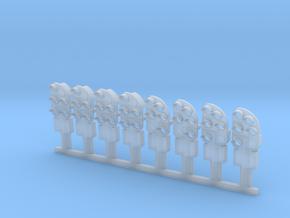 8 venstresporsignaler mm in Smooth Fine Detail Plastic
