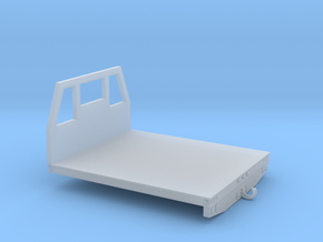 1/87th Utility type flatbed, 7' wide in Smooth Fine Detail Plastic