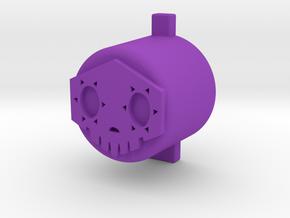 Sombra button in Purple Processed Versatile Plastic