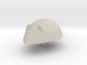 Cartoon Mouse in Natural Sandstone