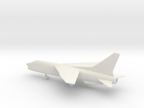 Vought F-8 Crusader in White Natural Versatile Plastic: 1:100