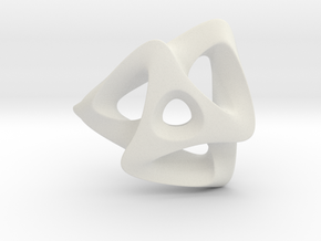 TRISKELION in White Natural Versatile Plastic