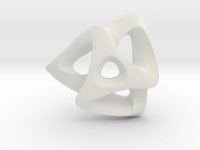 TRISKELION in White Natural Versatile Plastic