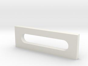 Short Bracket fo Mini Mill Table in White Natural Versatile Plastic: Small