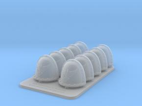 Bran Del Sangre V2 Crusade Style Shoulder Pads in Smooth Fine Detail Plastic