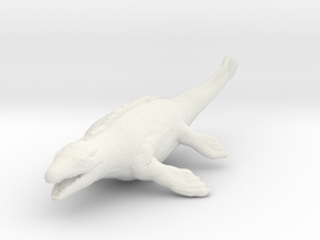 mosasaurus dinosaur 55mm miniature for games rpg in White Natural Versatile Plastic