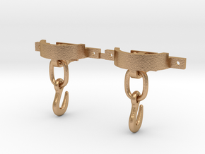CPL09 Rhosydd Iron Slate Wagon Couplings (SM32) in Natural Bronze (Interlocking Parts)