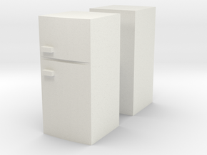 Fridge (x2) 1/76 in White Natural Versatile Plastic