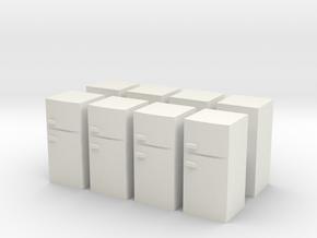 Fridge (x8) 1/144 in White Natural Versatile Plastic