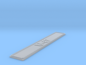 Nameplate U-47 in Smoothest Fine Detail Plastic