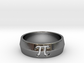 PI Ring Design Ring Size 10 in Fine Detail Polished Silver