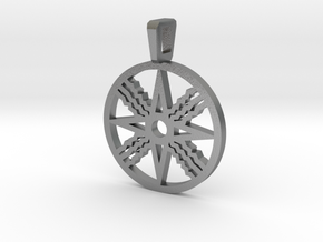 Assyrian Flag Pendent in Natural Silver
