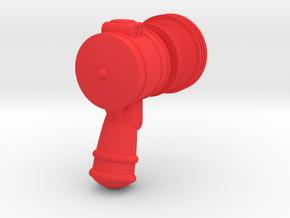 Robot Ray Gun Tamper in Red Processed Versatile Plastic