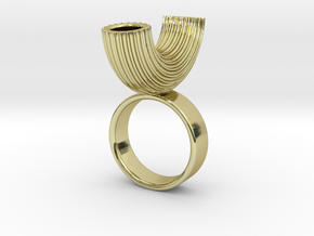 Macaroni Ring in 18k Gold Plated Brass