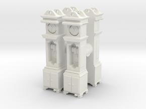 Pendulum Clock (x4) 1/100 in White Natural Versatile Plastic