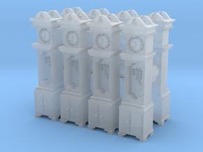 Pendulum Clock (x8) 1/144 in Smooth Fine Detail Plastic