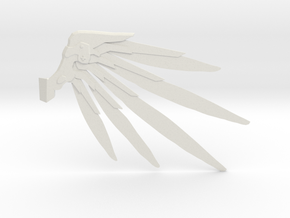 Techno Wings  in White Natural Versatile Plastic