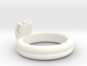 Cherry Keeper Ring - 53x52mm Dbl Flat -1°(~52.5mm) in White Processed Versatile Plastic