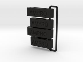 058002-02 Ampro ORV  H2 & H3 Front Arms, external  in Black Natural Versatile Plastic