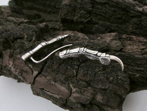 Raven Claw Talon Ear Climber Earrings in Antique Silver