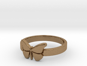 Butterfly (small) Ring Size 6 in Natural Brass