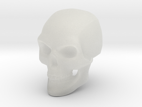 3D Printed Skull - Large in Smooth Fine Detail Plastic