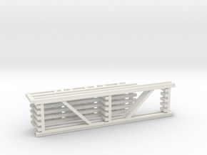 36X144 & 108 Beam Kit 1-87 HO Scale in White Natural Versatile Plastic