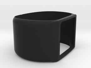 SmartWatch 3 cuff with catch in Black Natural Versatile Plastic