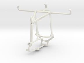 Controller mount for Steam & Honor Play 3e - Top in White Natural Versatile Plastic