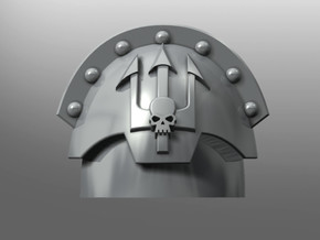 Honoris pattern shoulder pads: Emperor's Tridents in Smooth Fine Detail Plastic: Small