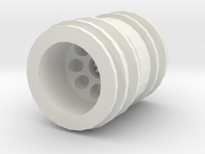 """Wpl rc dually wheel for 1"""" tire in White Natural Versatile Plastic"""