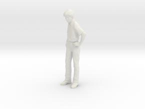 1/24 G Scale Spectator Man in White Natural Versatile Plastic