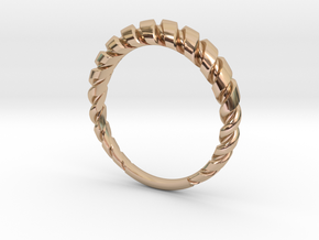 Wire twist dress ring 2 NO STONES SUPPLIED in 14k Rose Gold