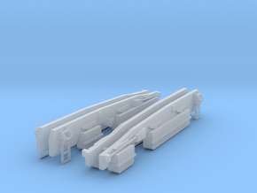 3mm Scale Bulleid Leader Scratch Aid – Bogie Sides in Smooth Fine Detail Plastic