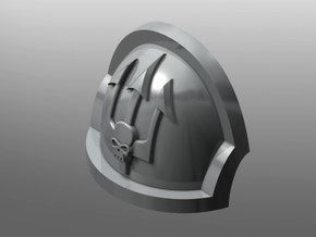 Ravenous ptrn Shoulder Pads: Emperor's Tridents in Smooth Fine Detail Plastic: Small