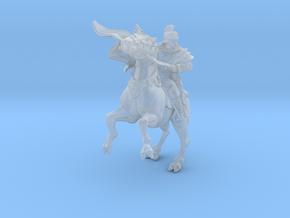 SciFi Napoleon Rider 28mm miniature in Smooth Fine Detail Plastic