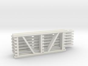 42X96 & 120 Beam Kit 1-87 HO Scale in White Natural Versatile Plastic