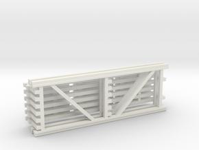 42X120 & 120 Beam Kit 1-87 HO Scale in White Natural Versatile Plastic