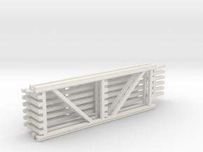 42X120 & 144 Beam Kit 1-87 HO Scale in White Natural Versatile Plastic