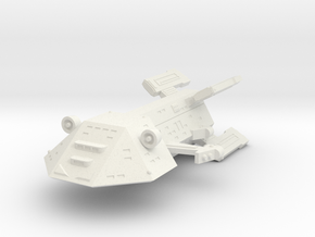 3125 Scale Kzinti New Command Cruiser (NCC) SRZ in White Natural Versatile Plastic