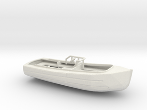 1/128 Scale 33 ft Utility Boat in White Natural Versatile Plastic