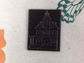 Phantom Manor Bas-relief in Black Acrylic