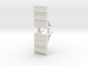 Wooden Barricade (x2) 1/87 in White Natural Versatile Plastic