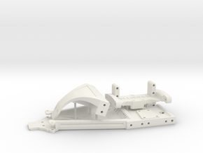 IFS Twin Hammers mounts for Brazin SCX10II in White Natural Versatile Plastic