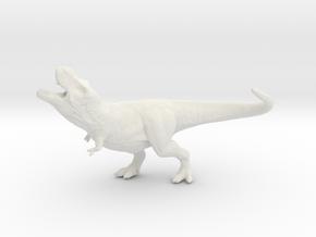Jurassic Park T-Rex roaring Tyrannosaurus miniatur in White Natural Versatile Plastic