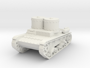 T-26 ST smoke and flam 1:72 in White Natural Versatile Plastic