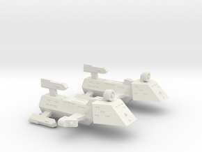 3125 Scale Kzinti Police Cutter & Police Corvette  in White Natural Versatile Plastic