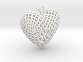 Love - diagonal in White Natural Versatile Plastic